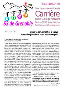 Bulletin n°222, octobre 2017