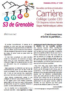 Bulletin n°218, octobre 2016