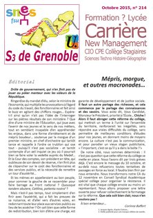 Bulletin n°214, octobre 2015